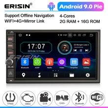4970 Android 9.0 samochodowe stereo 2 Din Sat Nav uniwersalny 4G DAB + Bluetooth OBD2 TPMS DVR WIFI Autoradio odtwarzacz multimedialny