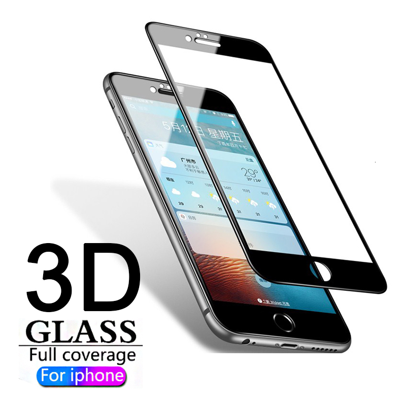 New 3D Full Tempered Glass Cover for iPhone X 6 6S 7 8 Plus Full Screen Protector Protective Film for iPhone X 8 Plus Glass image