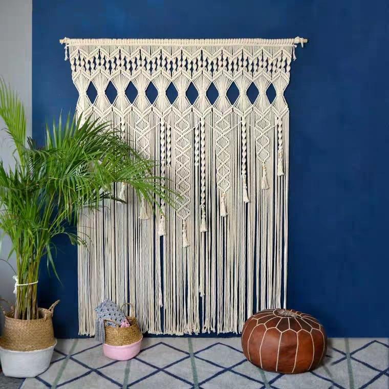 100% coton bohème tapisserie tissé à la main mur tapisserie rideau en plein air mariage décoration maison séjour hôtel tenture décor - 2