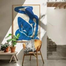 Постеры blue nudes Абстрактная Картина на холсте искусство французский