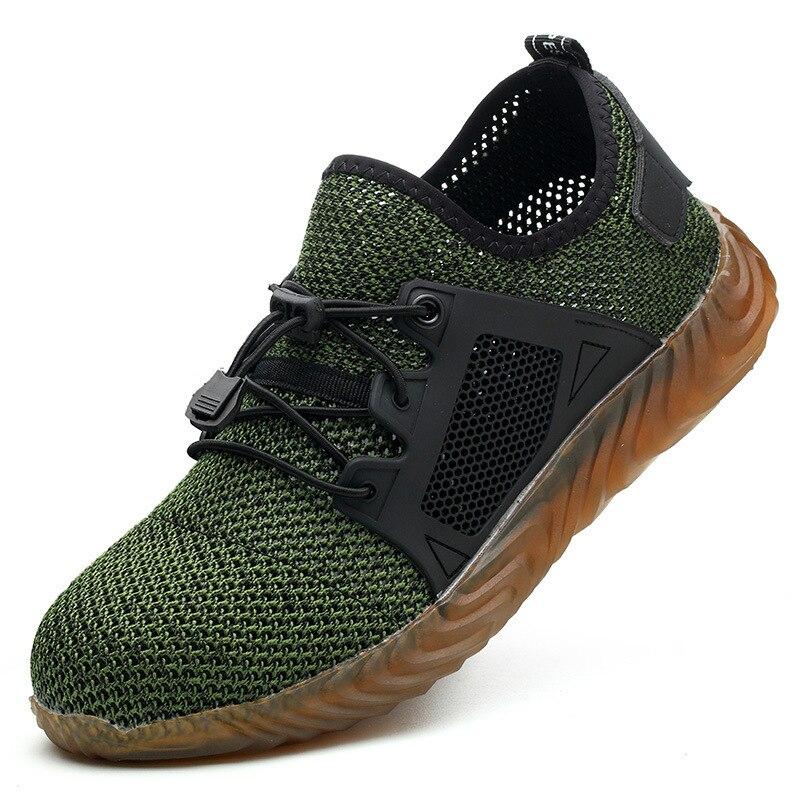 Grande taille européenne 48 chaussures de sécurité embout en acier été respirant léger anti-fracassant chaussures de site décontracté résistant aux coups de couteau