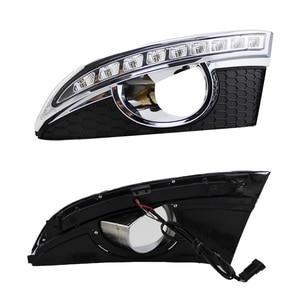 Image 2 - Auto Knipperende 2 Stuks 12V Led Drl Dagrijverlichting Met Mistlamp Gat Voor Chevrolet Captiva 2011 2012 2013 Richtingaanwijzer Relais