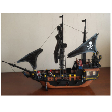 KAZI Pirates Of The Caribbean Black Pearl Ghost Ship Model DIY Building Blocks Educational Toys For Children's Bricks Gifts
