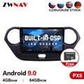 Автомобильный мультимедийный плеер DSP PX6, 4 Гб + 64 ГБ, Android 9,0, для Hyundai I10 2013-2016, автомобильный GPS-навигатор, Wi-Fi, автомобильное стерео радио, голов...