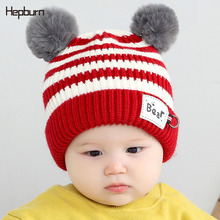 Hepburn Brand Girl/Boy Hats Baby hair jewelry Beanie Newborn Cap Winter Ear Warmer cotton Soft Solid Color Bonnet  Baby Hat newborn baby hat soft pure cotton infant bebe boy girl beanie hospital hat heart baby knitted bonnet cap