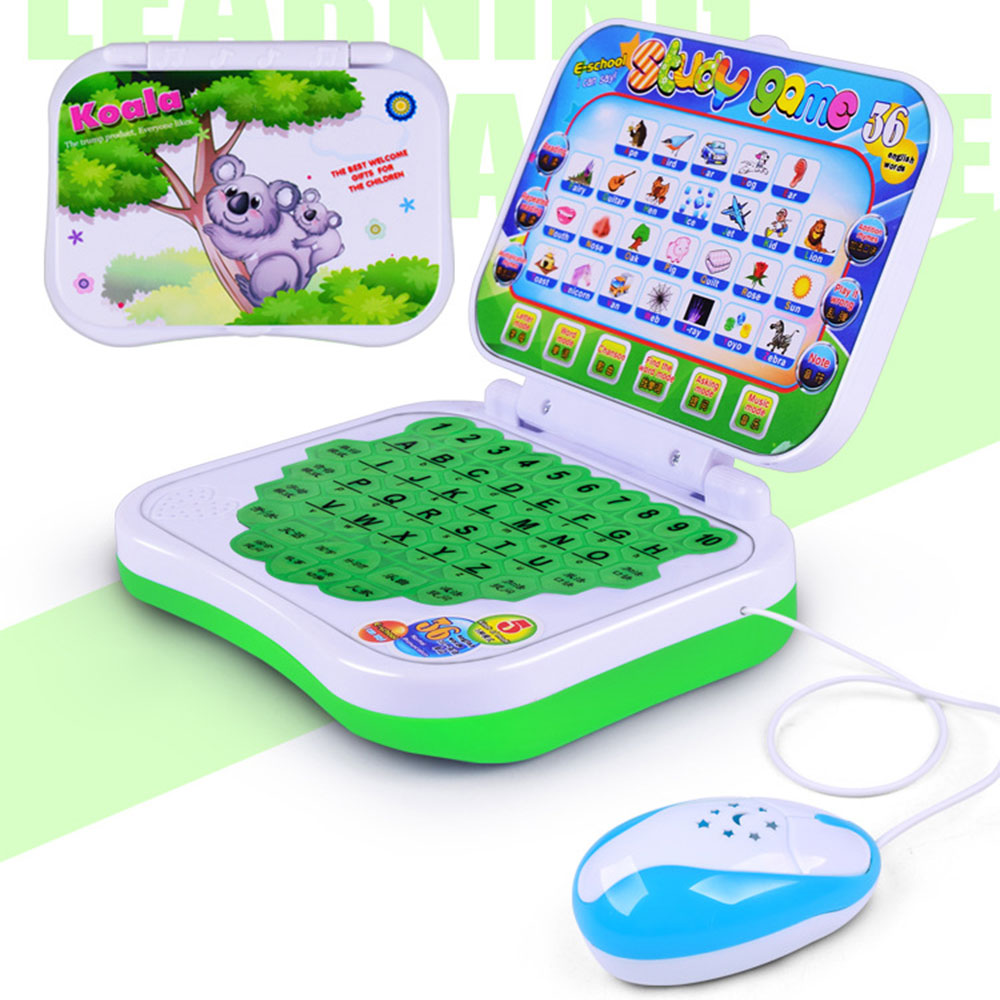 2019 Educational Learning Study Toy for Baby Kids Pre School Laptop Computer Game Educational Machine Toys with High Quality image
