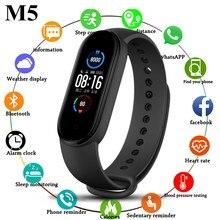 Montre connectée M5 pour hommes, Bracelet de Sport étanche, moniteur de fréquence cardiaque, pression artérielle, santé, Fitness