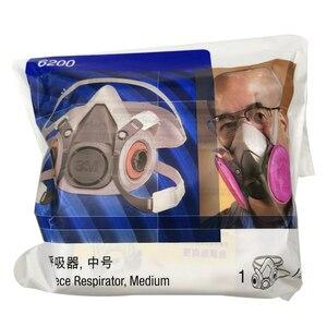 Image 2 - 3M 6200 גז מסכת ריסוס צבע קישוט כימי אבק מסכת הגנה רעיל קיטור מסנן הנשמה חצי מסכת Fit עבור מסנני