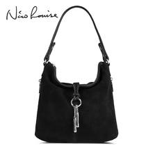 Fashion Women Split Leather Shoulder Bag Female Suede Casual Crossbody handbag Casual Lady Messenger Hobo Top handle Bags