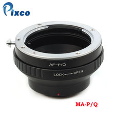 Pixco MA-P/Q Lens Adapter Suit For Sony Minolta MA Lens to Pentax Q Camera Q-S1 Q10 Q7 25mm f1 4 16 aps c cctv tv movie c mount lens for pentax q q10 q7 q s1 mirrorless camera