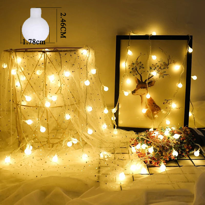 <font><b>10M</b></font> <font><b>100LED</b></font> <font><b>220V</b></font> / 110V LED ball light string Christmas bulb fairy tale auditorium wreath outdoor holiday wedding new year decora image