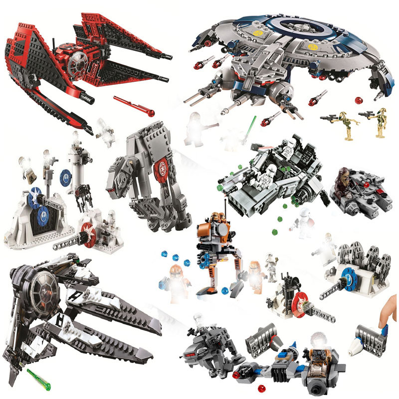 2020 New Star Tie Fighter Microfighters Wars The Rise Of Skywalker With Building Blocks Legoinglys Starwars Toys For Children