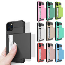 CARPRIE Case For iPhone XI XI MAX Case Slide Armor Wallet Card Slots Cover For IPhone 5.8 6.1 6.5 2019 For iPhone XIR 11 Cover(China)