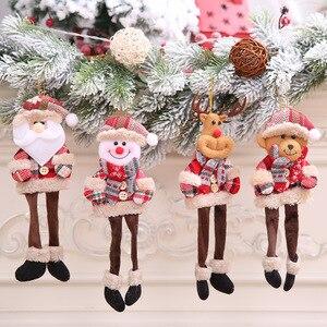 2021 Новогодняя подвесная кукла Рождество Санта Снеговик олень украшения Рождественское украшение для дома рождественские вечерние подарки...