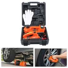 Samger 12V 5Ton électrique hydraulique voiture Jack Automobile pneu vérins de levage avec clé à Impact et gonfleur de pneu pour outil de réparation de voiture