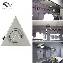 LED Closet Cabinet Lamp Kitchen Under Cabinet Lighting Triangle Led Light Stainless Steel Downlight for Wardrobe Cupboard(China)