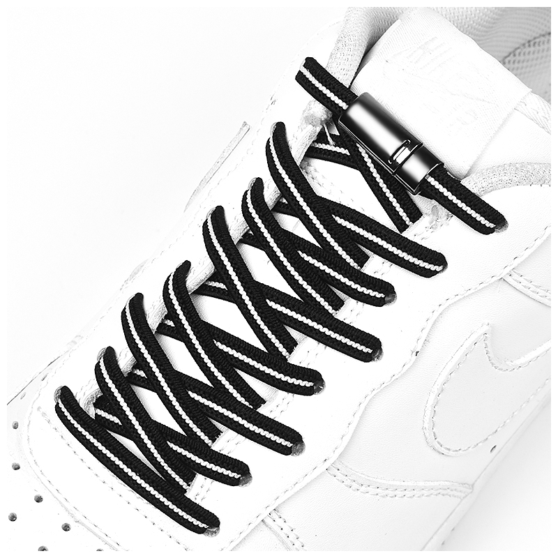 High Quality Elastic Shoelaces Magnetic Metal Locking No Tie Shoelace Child Adult Safety Quick Leisure Sneakers Lazy Laces