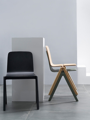 Nordic Danish Curved Wood Dining Chair Creative Small Family Japanese Back Chair Personality Simple Designer Butterfly Chair