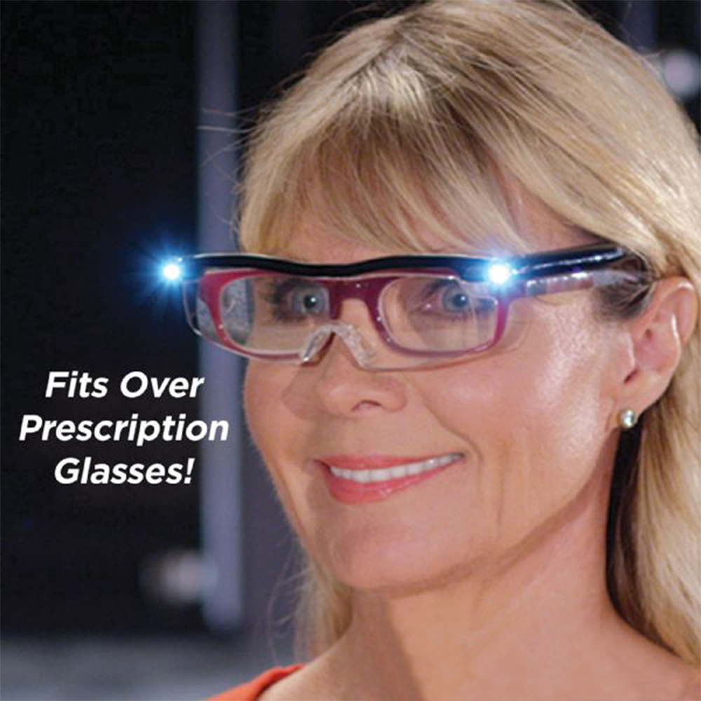 New TV Products Mighty Sight Glasses With LED Lights / Reading Glasses Magnifying Glass (Glasses + USB Cable)