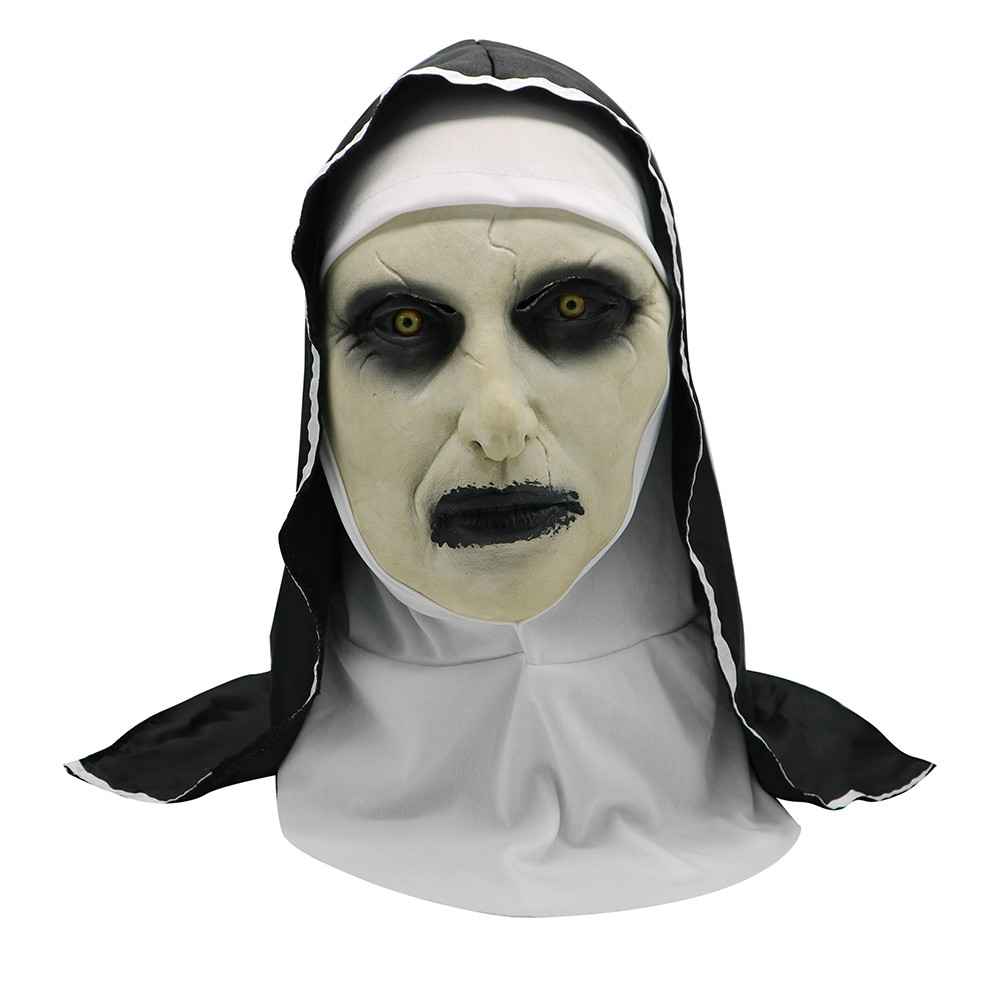 Halloween Horror Adult Witch Mask c//w Hat and Grey Hair Rubber Halloween Mask
