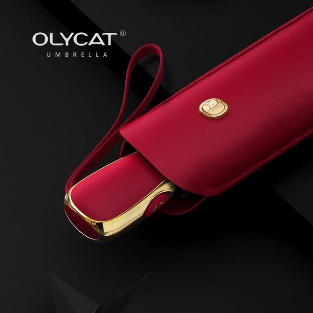 Sombrilla automática plana OLYCAT, sombrilla ultraligera para mujeres, sombrilla de viaje para niñas, sombrillas plegables portátiles de Anti UV, 6 costillas, sombrilla 1