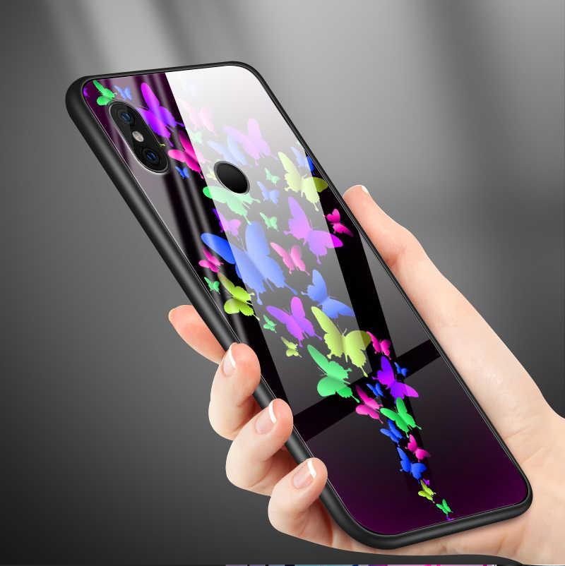 強化ガラス Xiaomi 6 × 5 × 8 9 SE A1 A2 Lite 電話 Redmi 注 4X 5A 6 7 プロ首相 TPU 保護ハードシェル