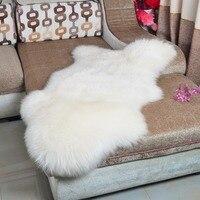 Extra Große Australien Schaffell Teppich Echtem Pelt Echt Pelz Decke Teppich Dekorative Sofa Stuhl Kissen Hause Schafe pelz Teppiche neue-in Lumpen aus Heim und Garten bei