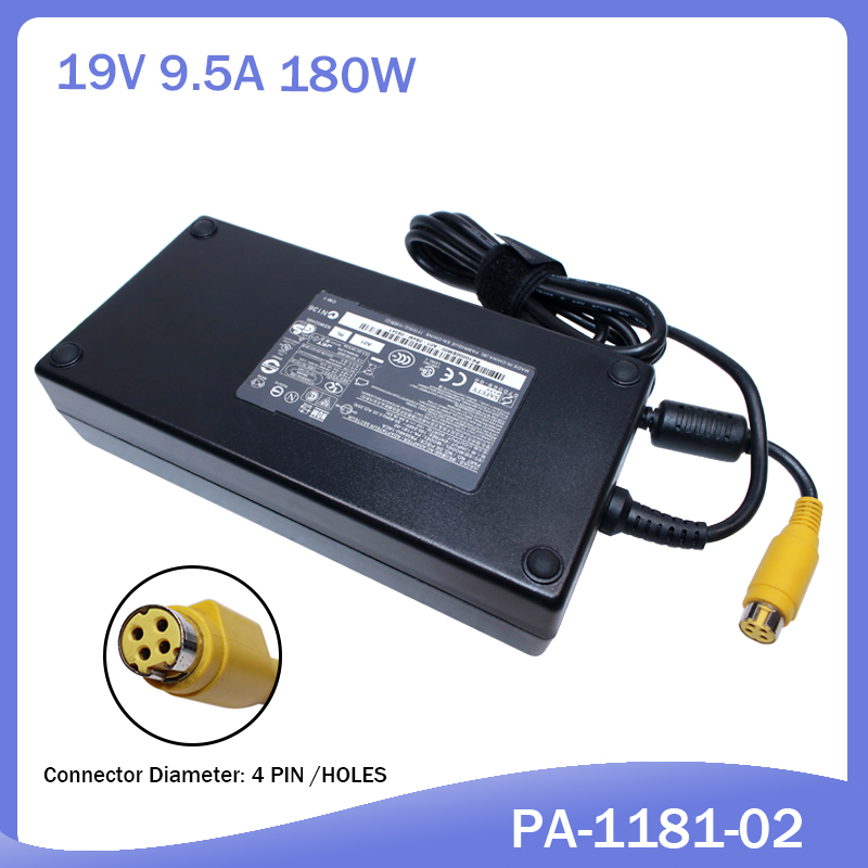 NEW 19V 9.5A 180W For Toshiba Satellite Qosmio X205 X505 X870 PA3546E-1AC3 PQX33U Ac Adapter Laptop Battery Charger PA-1181-02
