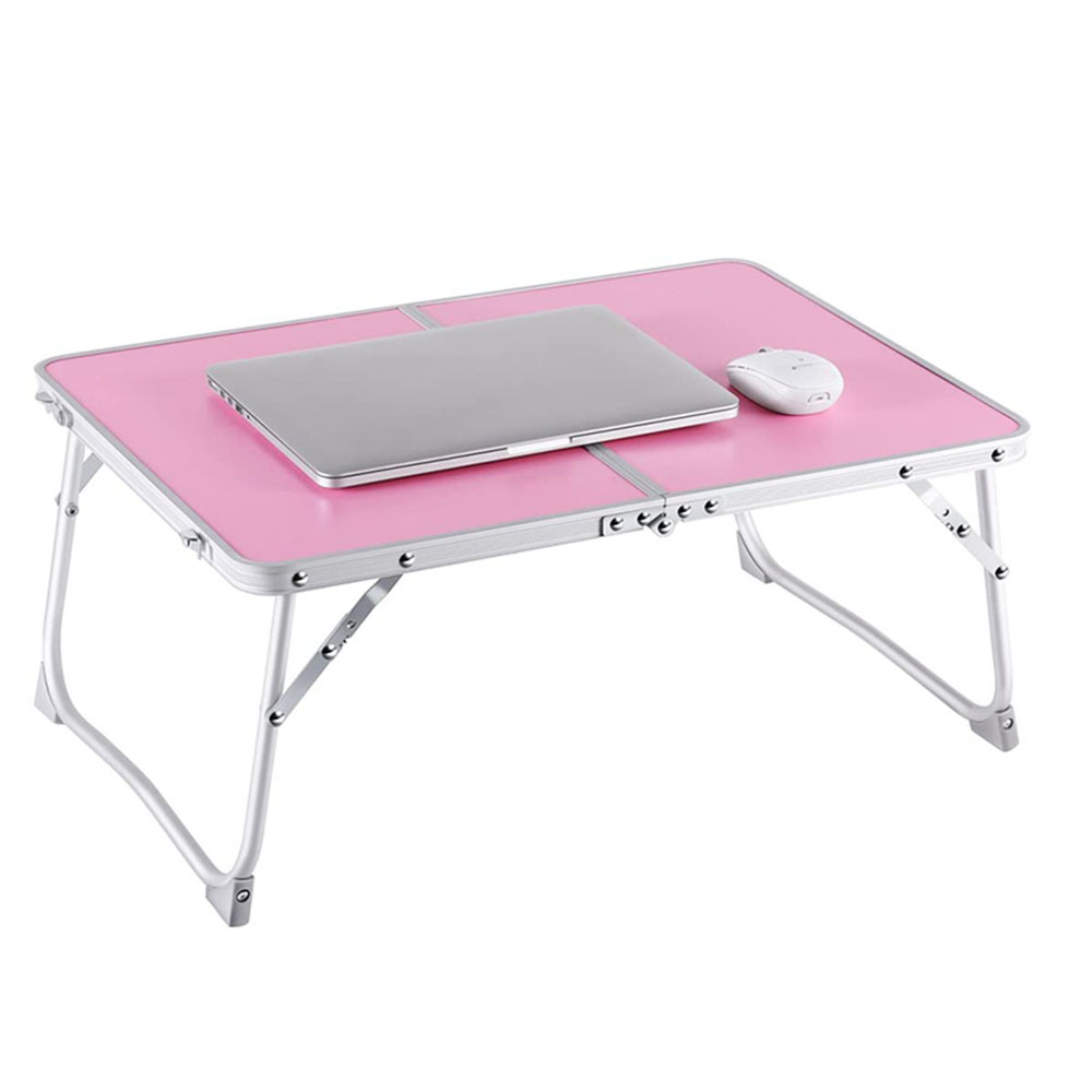 Silver Foldable Laptop Table Lapdesk RAINBEAN Breakfast Bed Desk Sofa Serving Tray Portable Mini Picnic Desk Aluminium Alloy Leg Notebook PC Stand Reading Holder for Couch Floor
