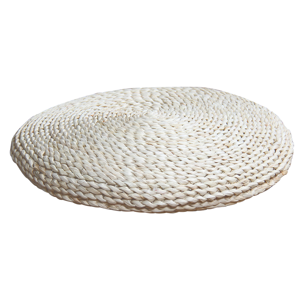 Decorative Meditation Cushion Furniture Straw Knitting Home Pouffe Living Room Round Rustic Seat Pad Footrest Stuffed Practical