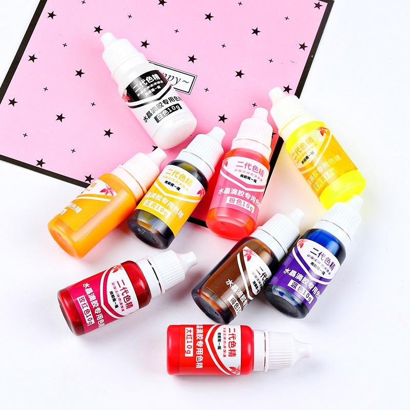 High 10ML Epoxy Resin Pigment UV Resin Coloring Dye Colorant Resin Pigment DIY Handmade Crafts Art Sets  Colors NE