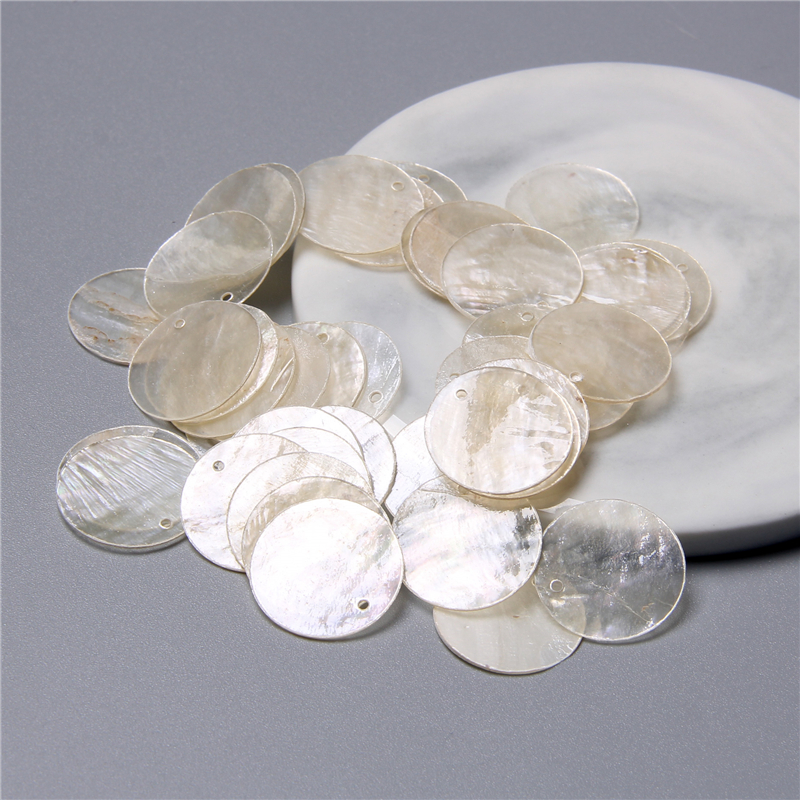 Natural transparent round shell pieces for jewelry making earring loose bulk shell charm beads Accessories handmade jewelry diy