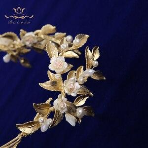 Image 5 - הבארוק כלה מצנפות כתרים אירופאי זהב הכלה Hairabnds Headpieces ריינסטון חתונת שיער אבזרים