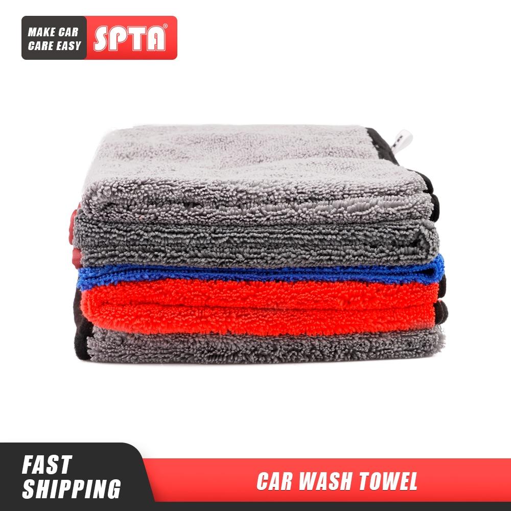 (Bulk Sale 10) 10Pcs SPTA Car Washing Towel Extra Soft Car Wash Microfiber Towel Car Care Cloth  Auto Cleaning Drying Cloth