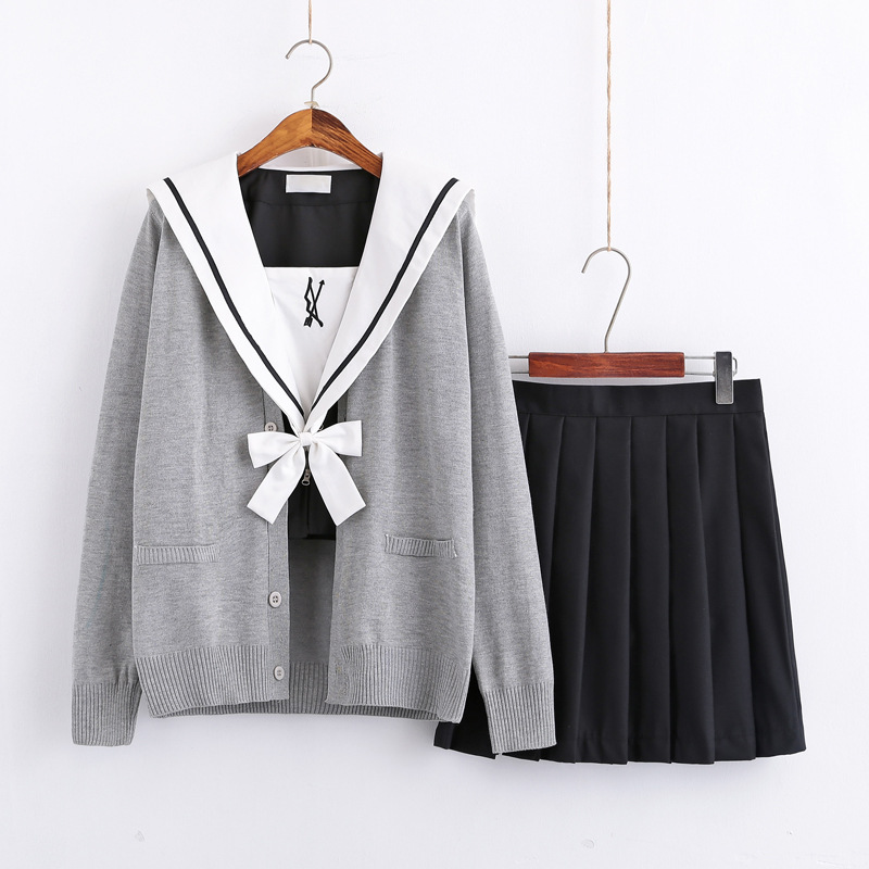 Cupid's Arrow Japanese School Uniform For Girls Sailor Navy Style Students Clothes For Girl Plus Size Lala Cheerleader Clothing