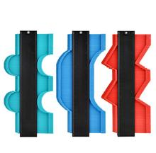 5/10 inchMulti-functio Contour Gauge Tiling Laminate Tiles Edge Shaping Wood Measure Ruler ABS Contour Gauge Duplicator