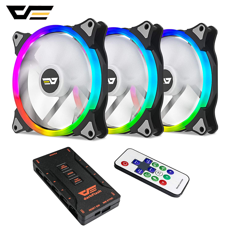 Aigo Computer Case PC Cooling Fan 140mm RGB Adjust 3pin+4pin LED Quiet+IR Remote AURA SYNC CPU Cooler Water Cooling RGB Case Fan
