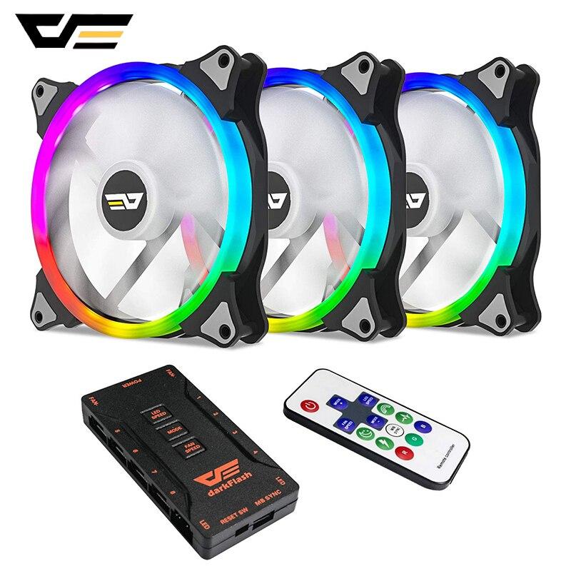 Aigo coque d'ordinateur ventilateur de refroidissement PC 140mm rvb ajuster 3pin + 4pin LED silencieux + IR à distance AURA SYNC refroidisseur de processeur refroidissement par eau RGB ventilateur de boîtier
