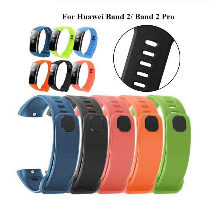 Silicone Wrist Strap For Huawei Band 2 Pro ERS-B19 ERS-B29 Bracelet Straps TPU Wristband For Honor Band 2 Band2 Pro Watch Bands