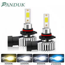 PANDUK 2pcs H4 LED H1 H3 H7 H11 H8 H9 H27 880 881 9005 HB3 9006 HB4 Led Headlight Bulbs 60W 12000LM Car Styling 6000K Fog Light