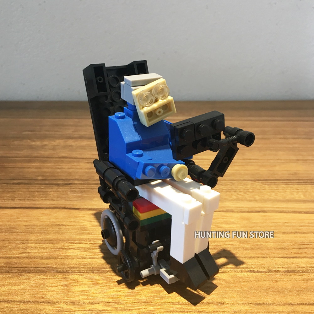 MOC Set Stephen Hawking Creative Minifigs Mini Figures Collection DIY Bricklink Building Blocks Toys For Kid Gift