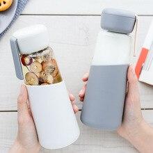 400 ML Glass Water Bottle Healthy Leak Proof Drinking Portab