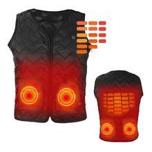 Usb-нагревательный жилет для мужчин и женщин с электрическим подогревом, углеродное пальто, куртка для кемпинга, пуховое волокно для улицы, теплый походный жилет U7Y4