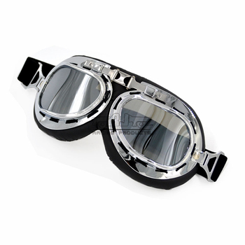 Retro Motorbike Goggles Motorcycle Pilot Helmet Glasses Flying Scooter Spectacles Motorcycle Helmet Eyewear ATV Glasses Off-Road motorcycle atv riding scooter driving flying protective frame clear lens portable vintage helmet goggles glasses for 2009 buell xb12r