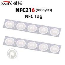 50 قطعة NFC Tag NFC216 التسمية 216 ملصقات العلامات شارات ملصق التسمية 13.56mHz لهواوي حصة ios13 اختصارات الأتمتة الشخصية