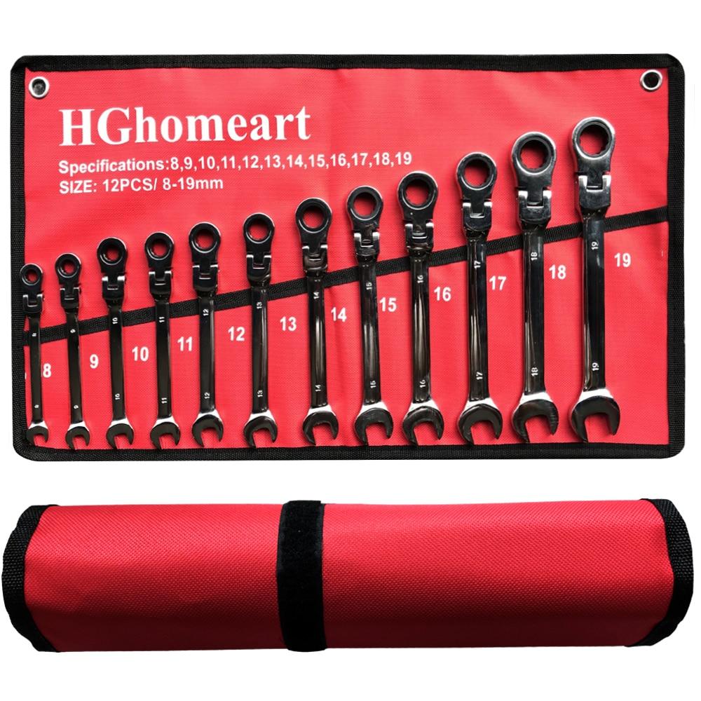 Wrench Spanner Socket-Tool-Set Hand-Tools Ratchet 5/7/12pcs