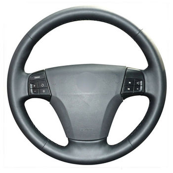 DIY Free Customized PU Steering Wheel Stitch on Wrap Cover For Volvo S40 V50