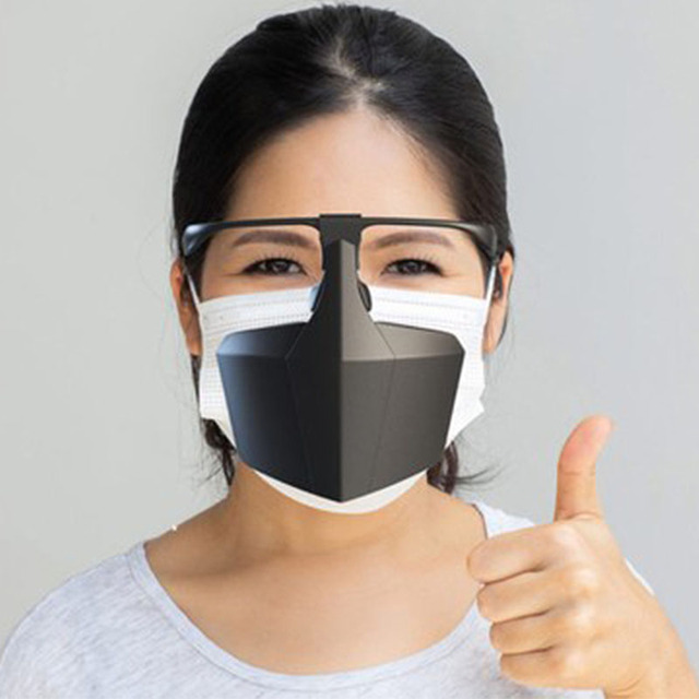 Food Grade PE Mouth Safe Masks Shield Anti Spitting Saliva Screen Protective Face Shield Respirator Half Face Mouth Mask Safer 3
