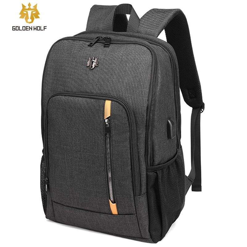 Goloen Wolf Travel Laptop Backpack Usb-Charger Teenager School Bag Travel Male Leisure Backpacks Mochila For Women Gril Bags