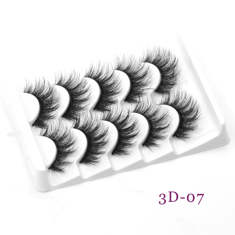 8d Natural False Eyelashes Hand Made Beauty Makeup 5 Pairs Eyelashs Natural Long 3d Faux Mink Eyelashes 5 Pack Mink Lashes